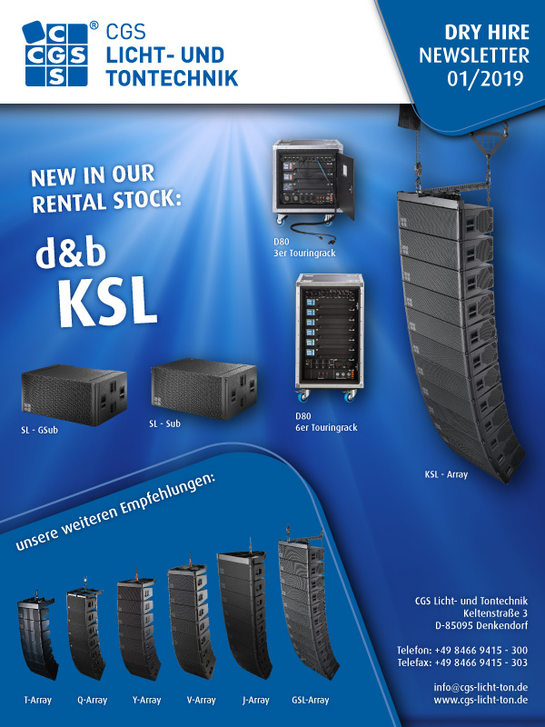 CGS d&b KSL-Series, KSL-Array, SL-GSub, SL-Sub, GSL