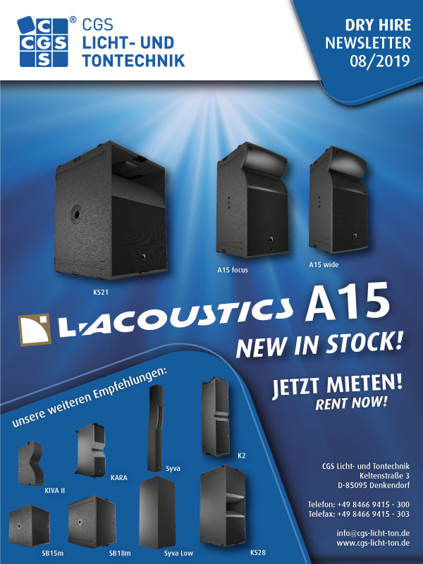 L-Acoustics CGS A-Series, A15 focus, A15 wide, KS21